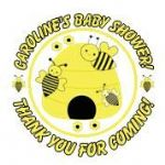 Personalised Honey Bee Baby Shower Party Stickers